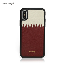 Horologii CUSTOM NAME FREE Qatar flag color luxury leather mobile phone case for iphone X max 7 plus 11 pro dropship