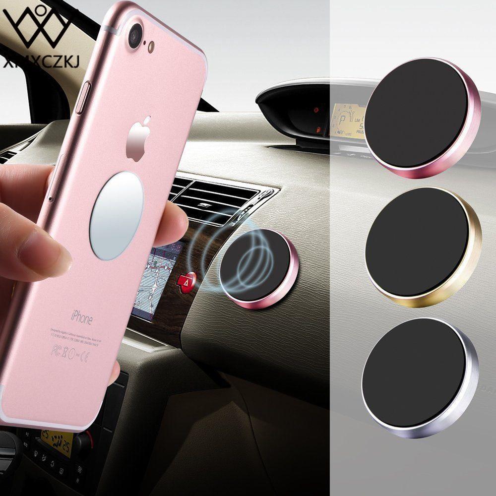 Универсален магнитен монтаж алуминиева рамка на таблото за кола на автомобила, подходящ за iPhone за Galaxy Note, за смартфон ND-AVHM012