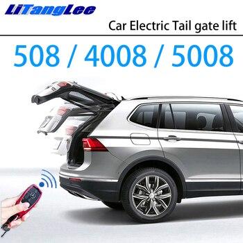 LiTangLee Car Electric Tail Gate Lift Trunk Rear Door Assist System for Peugeot 508 4008 5008 II Original Car key Remote Control