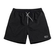 Короткие мужские летние размера плюс тонкие быстросохнущие пляжные брюки повседневные спортивные короткие брюки мужские свободные легкие шорты для спортзала