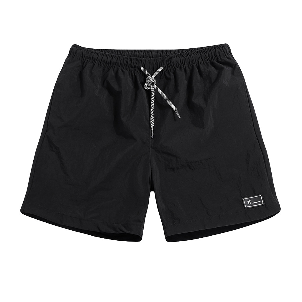 Short Men's Summer Plus Size Thin Fast-drying Beach Trousers Casual Sports Short Pants Men Loose Lightweight Shorts Gym