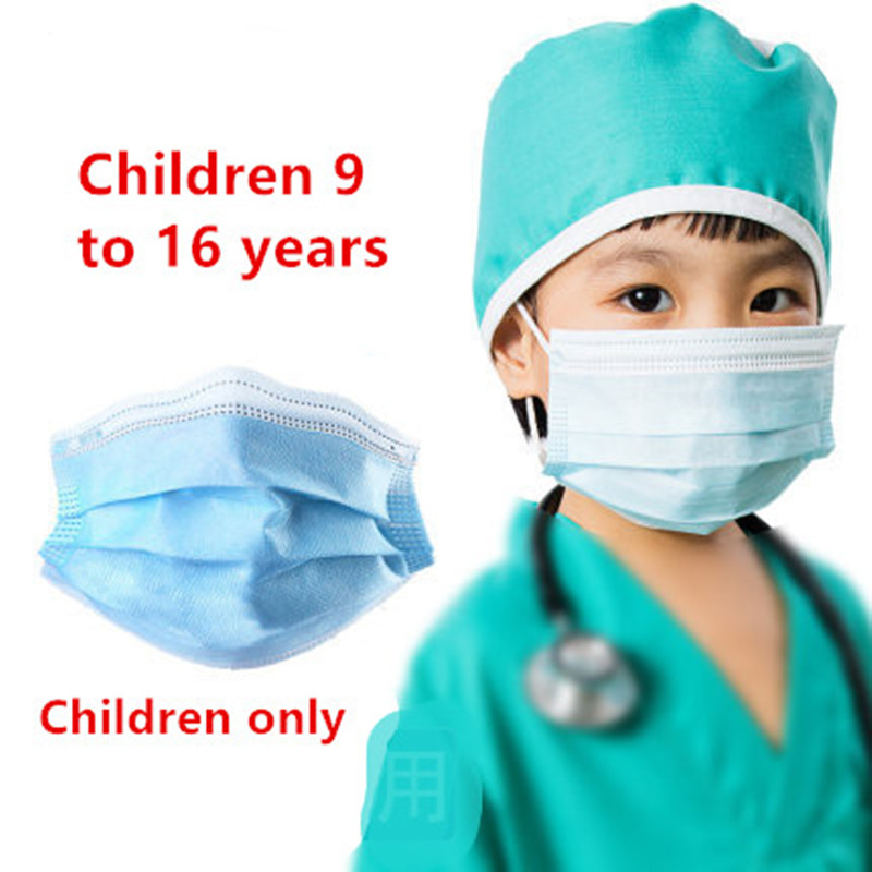 10pcs/pack PM2.5 Children Mouth Mask For Kids 3 Layer Smog Mask Anti Dust Mask Facial Protective Covers Mouth