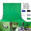 3*4 м зеленый/голубой/белый студийный фон для фотосъемки с нетканый фон для фотосъемки вечерние зеленый фон Экран стойку задника виниловый т...