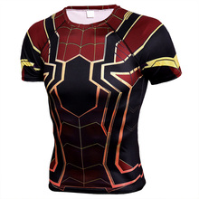 Cool Sport Shirt Men Fitness Running T Shirts 3D Quick Dry Compression Tights Tee Tops Gym Slim Fit Mens T-Shirts Sportswear