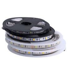 RGB LED רצועת 5V 12V 24 V SMD 5050 5M עמיד למים גמיש Led אור רצועת 5 12 24 V וולט קלטת מנורת סרט טלוויזיה תאורה אחורית Ledstrip