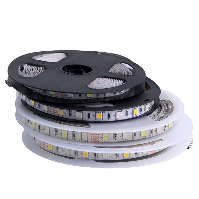 Rgb Led Strip 5V 12V 24 V Smd 5050 5M Waterdichte Flexibele Led Light Strip 5 12 24 V Volt Tape Lamp Lint Tv Backlight Ledstrip
