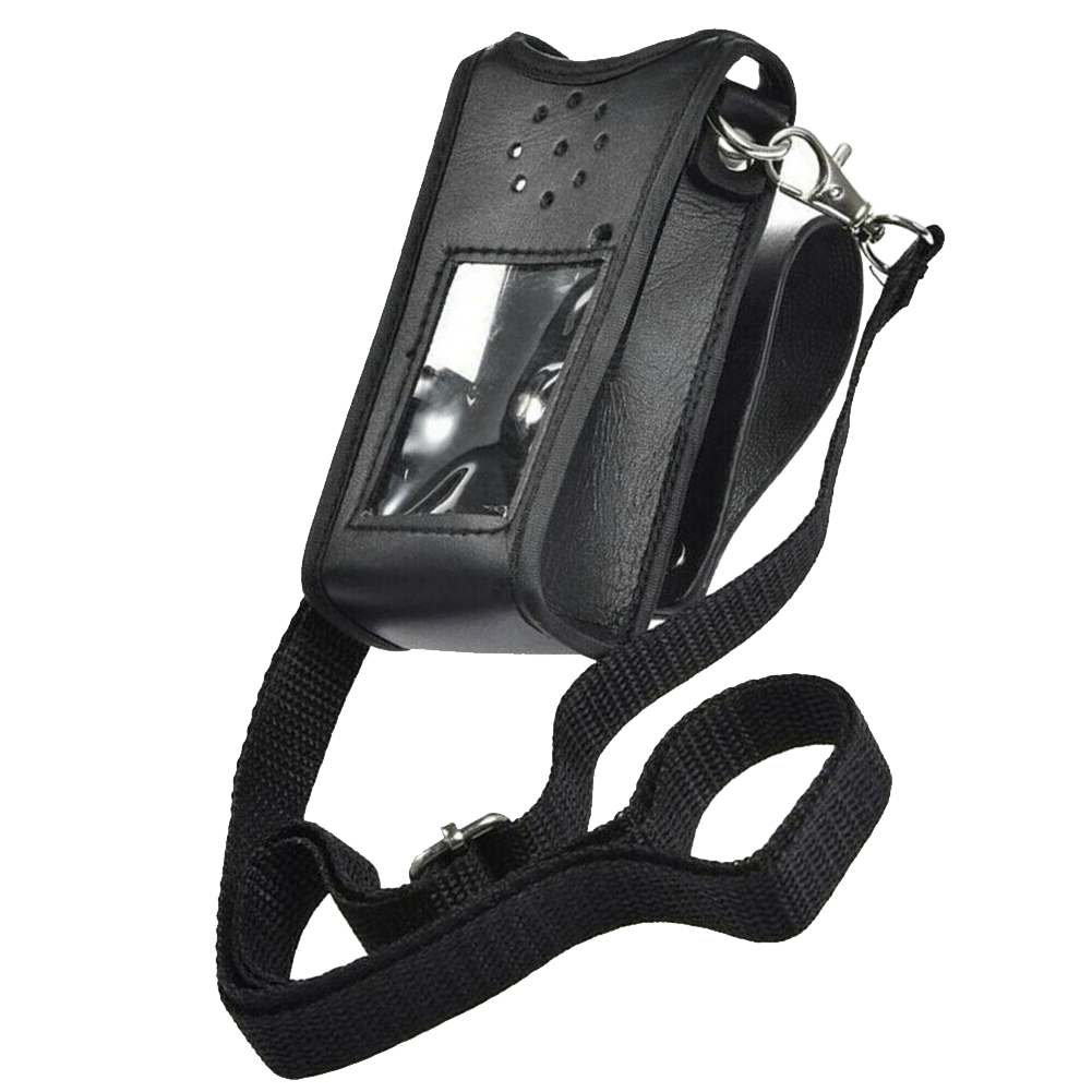 Outdoor Accessories Protective Cover Buckle Pouch Belt Sheath PU Leather Waist Walkie Talkie Professional For BF-UV9RPLUS
