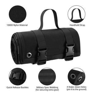 Image 2 - 1000D Tactical Shooting Mat Lightweight Roll Up Camping Mat Non slip Hunting Gun Pad Waterproof Picnic Blanket Hunting Accessory