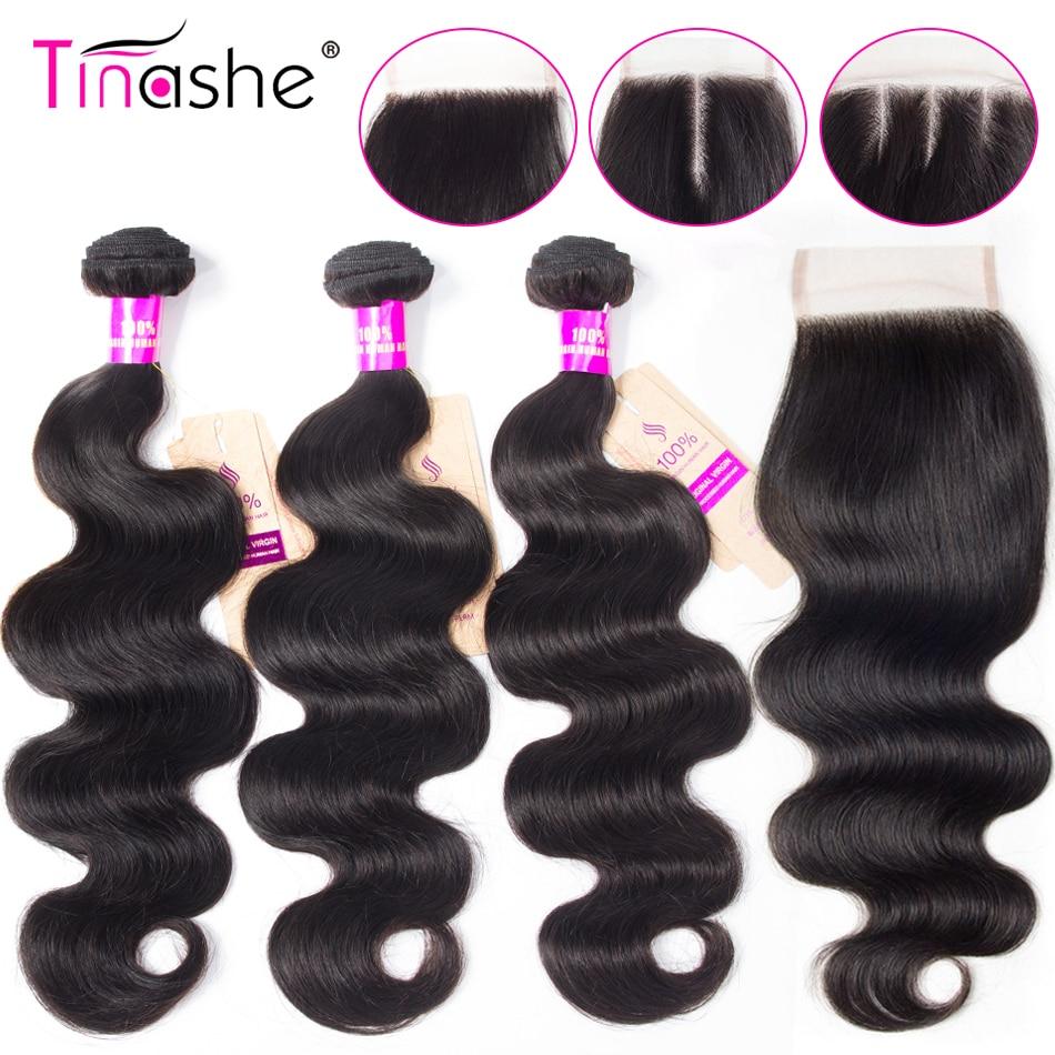 Tinashe Hair Body Wave Bundles With Closure Peruvian Hair Bundles With Lace Closure 8-30 Inch Human Hair 3 Bundles With Closure