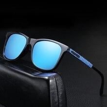 Classic Men Polarized Sunglasses Vintage Brand Design Square