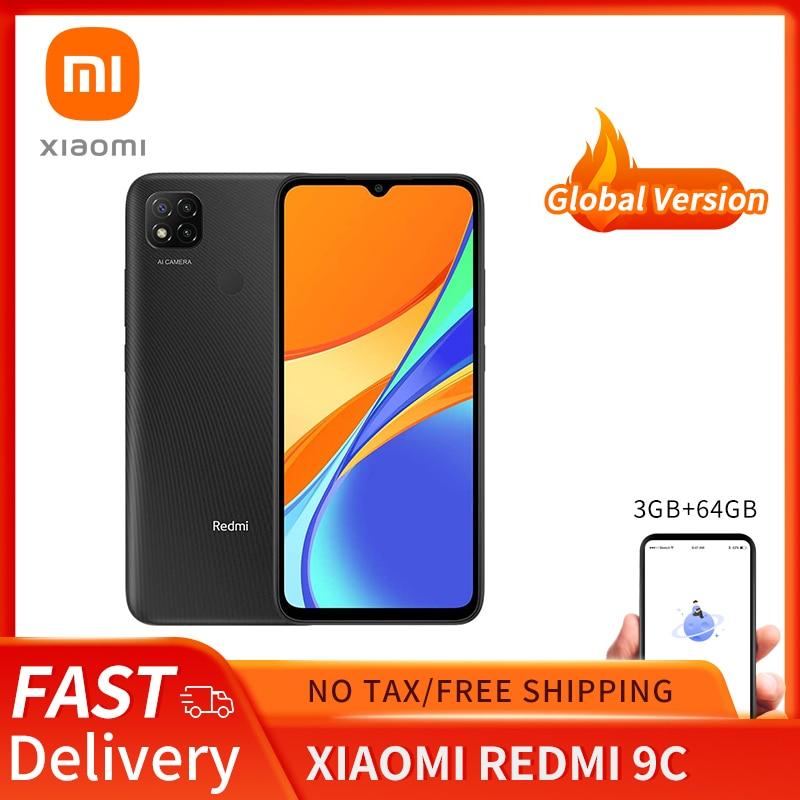 Xiaomi Redmi 9C Global Version 3GB 64GB Xiaomi SmartPhone 13MP Rear Camera MTK Helio G35 6.53
