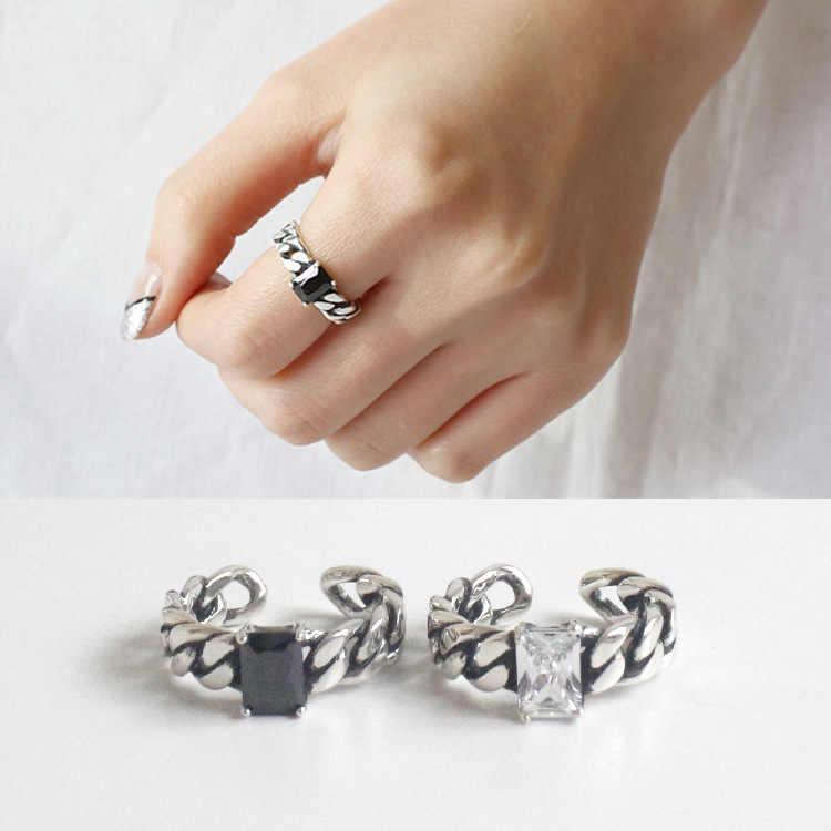 Hot Koop 925 Sterling Zilver Wide Ring Voor Vrouwen Originele Fijne Sieraden Gift Open Verstelbare Vinger Ring