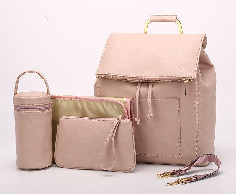 Hayley PU Leather Mummy Bag Pink