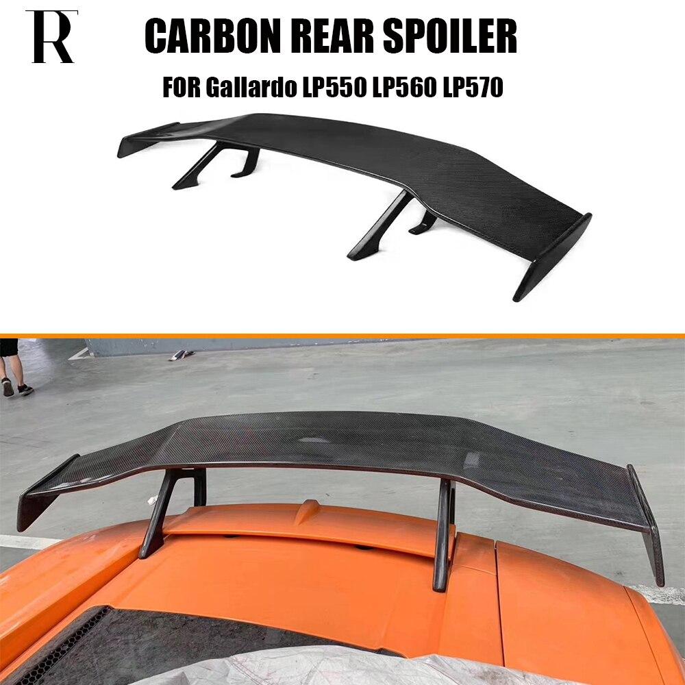 Z włókna węglowego D styl tylne skrzydło gt tylny spojler spojler dla Lamborghini Gallardo LP550 LP560 LP570