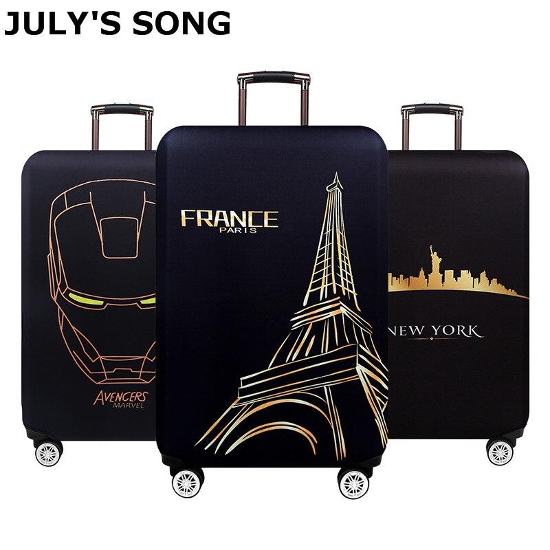JULY'S SONG аксессуары для путешествий Чехол для чемодана защита от пыли стрейч чехол для чемодана сумка S/M/L/XL