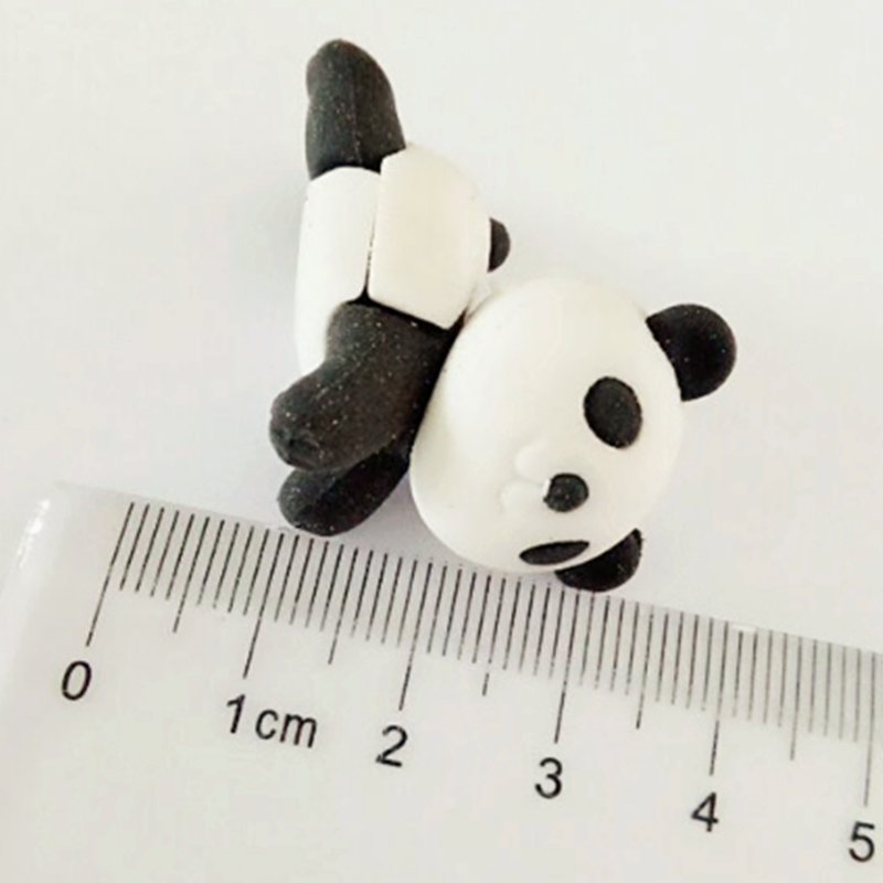 1 Pcs Cute Animal 3D Panda Rubber Eraser Creative Stationery School Supplies Girl Gift For Kids Children's Toys