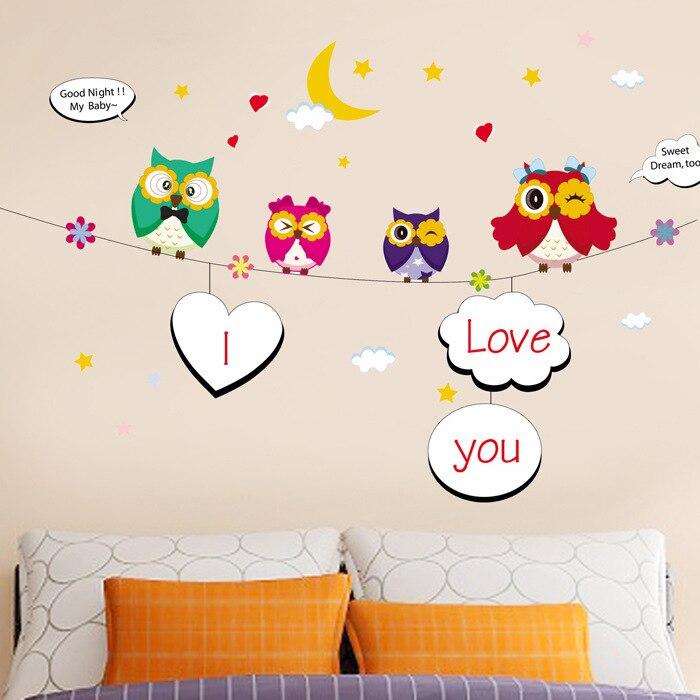 Купить креативные домашние фотографии мультяшные настенные наклейки