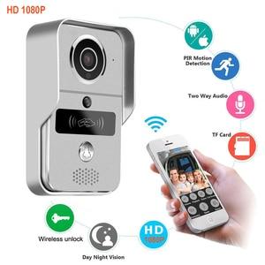 Image 1 - Smart 1080P Home WiFi Video Door phone intercom Doorbell Wireless Unlock Peephole Camera Viewer