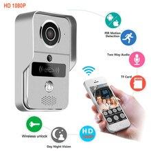 Thông Minh 1080P WiFi Nhà Chuông Cửa Điện Thoại Liên Lạc Nội Bộ Chuông Cửa Không Dây Mở Khóa Nhìn Trộm Màu Xem Camera