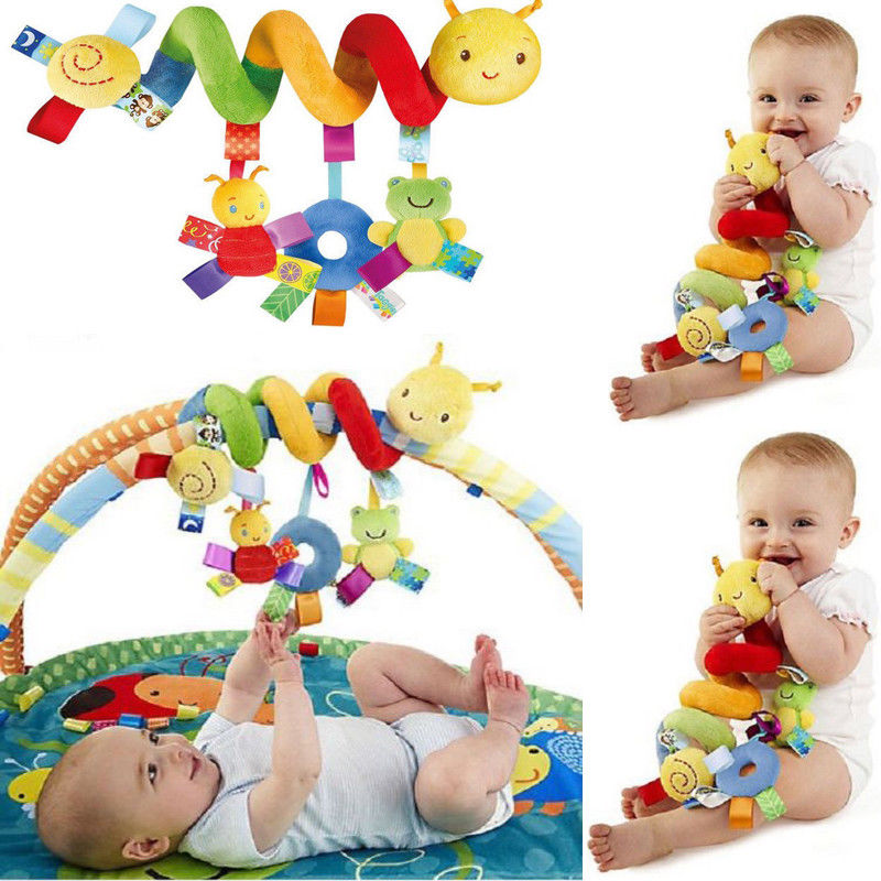 Toys For Baby Stroller Cute Animal Activity Spiral Crib Stroller Car Seat Travel Hanging Toys Colorful Newborn Baby Rattles Toy