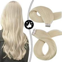 Human-Hair-Extension Moresoo-Machine Adhesive Platinum Tape-In Brazilian-Hair Natural