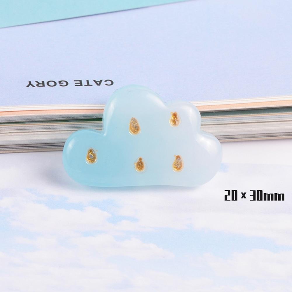 10 Pcs Resin Cartoon Sun Moon Cloud Slime Mud Clay Charm Filling Accessories Kids Toy Hair Accessories Handmade DIY Accessories