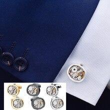цена SAVOYSHI Mechanical Watch Movement Cufflinks for Mens Shirt Cuff buttons Functional Watch Mechanism Cuff Links Brand Jewelry онлайн в 2017 году