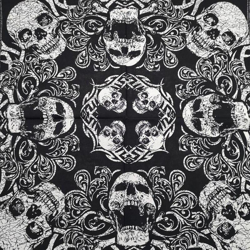 Goutte Hip Hop 100% coton crâne Bandana carré écharpe
