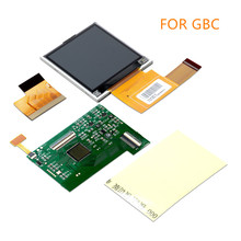 עבור Nintend GBC גבוהה אור מסך LCD שינוי ערכת החלפת אביזרי עבור GBC 5 מגזרים מתכוונן בהירות מסך