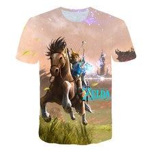 Verão crianças roupas t camisa respiração do elo selvagem campeão zelda crianças camiseta para meninos e meninas da criança de manga curta