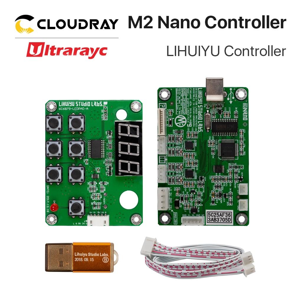 Ultrarayc LIHUIYU M2 Nano Laser Controller Mother Main Board + Control Panel + Dongle B System Engraver Cutter DIY 3020 3040 K40