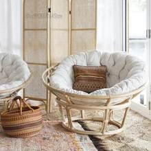 Ins verdadeiro rattan preguiçoso homem sofá cadeira papasan reclinável cadeira varanda sofá indonésio rattan cadeira de sol rattan radar cadeira