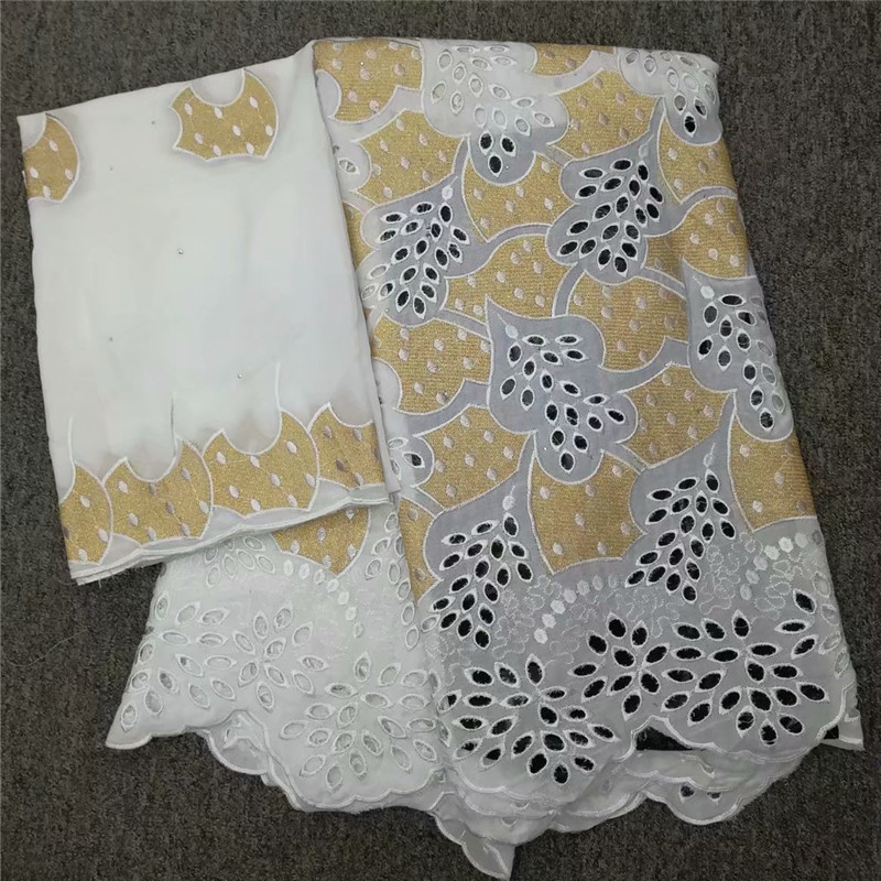 Nigerian lace fabric 2019 high quality lace african cotton dry lace fabric swiss voile lace in switzerland 7yards lott lc1 813 in Lace from Home Garden