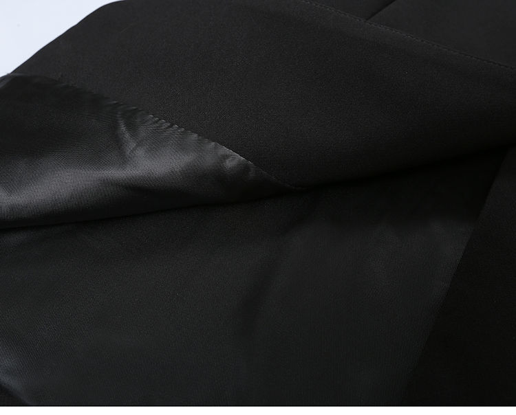 Elegant Black Single Button Women Blazer Jacket 10