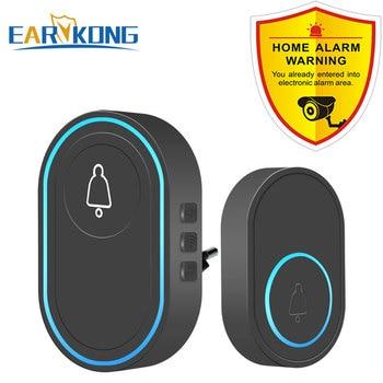 Intelligent Wireless Doorbell Home Welcome Doorbell Waterproof 300m Remote Smart Door Bell Chime EU UK US Plug Optional