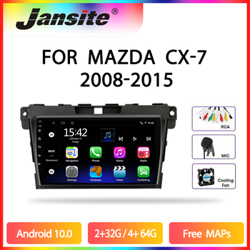 JMCQ Car Radio Android 10 Multimidia Video Player For MAZDA CX-7 cx7 cx 7 2008-2015 2 din Floating window Split Screen Player image