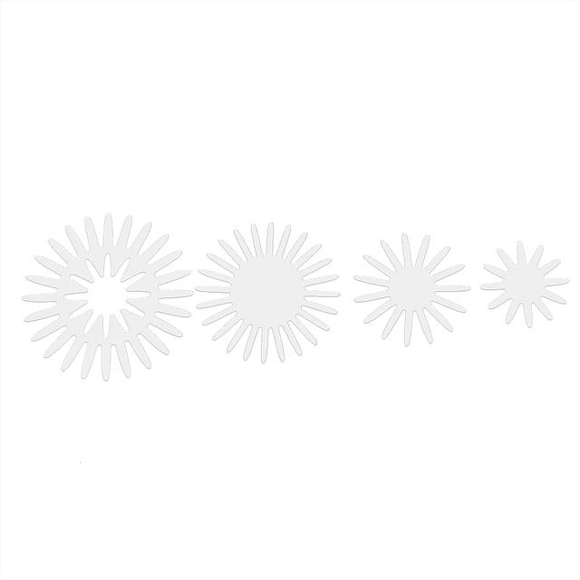 NICEYARD 1 ensemble pétales ronds matrices de découpe en métal décoratif gaufrage gaufrage poinçon couteau matrices de découpe cadre bricolage Scrapbooking