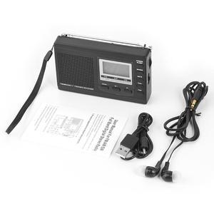 Image 5 - HRD 310ラジオfm mw swデジタルアラーム時計fm無線レシーバw/イヤホン音楽プレーヤースピーカー