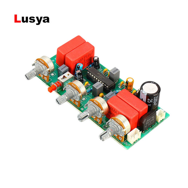 LM1036 Preamp  Amplifier Audio Tone Board Treble Bass Volume Control Adjustment Board DC/AC 12V B1 004