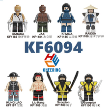 Single Sale Building Blocks Famous Game Mortal Kombat Baraka Jax Kitana Raide Scorpion Models Toys Gift For Children KF6094