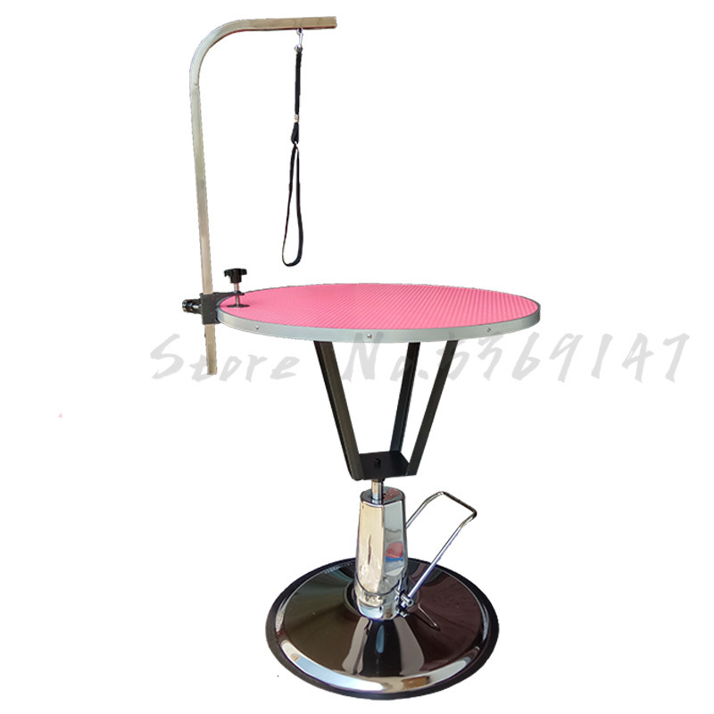 Pet Grooming Station Hydraulic Lifting Round Dog  Table Teddy Cat Blowing Shearing Hairstyling  Bracket Sling