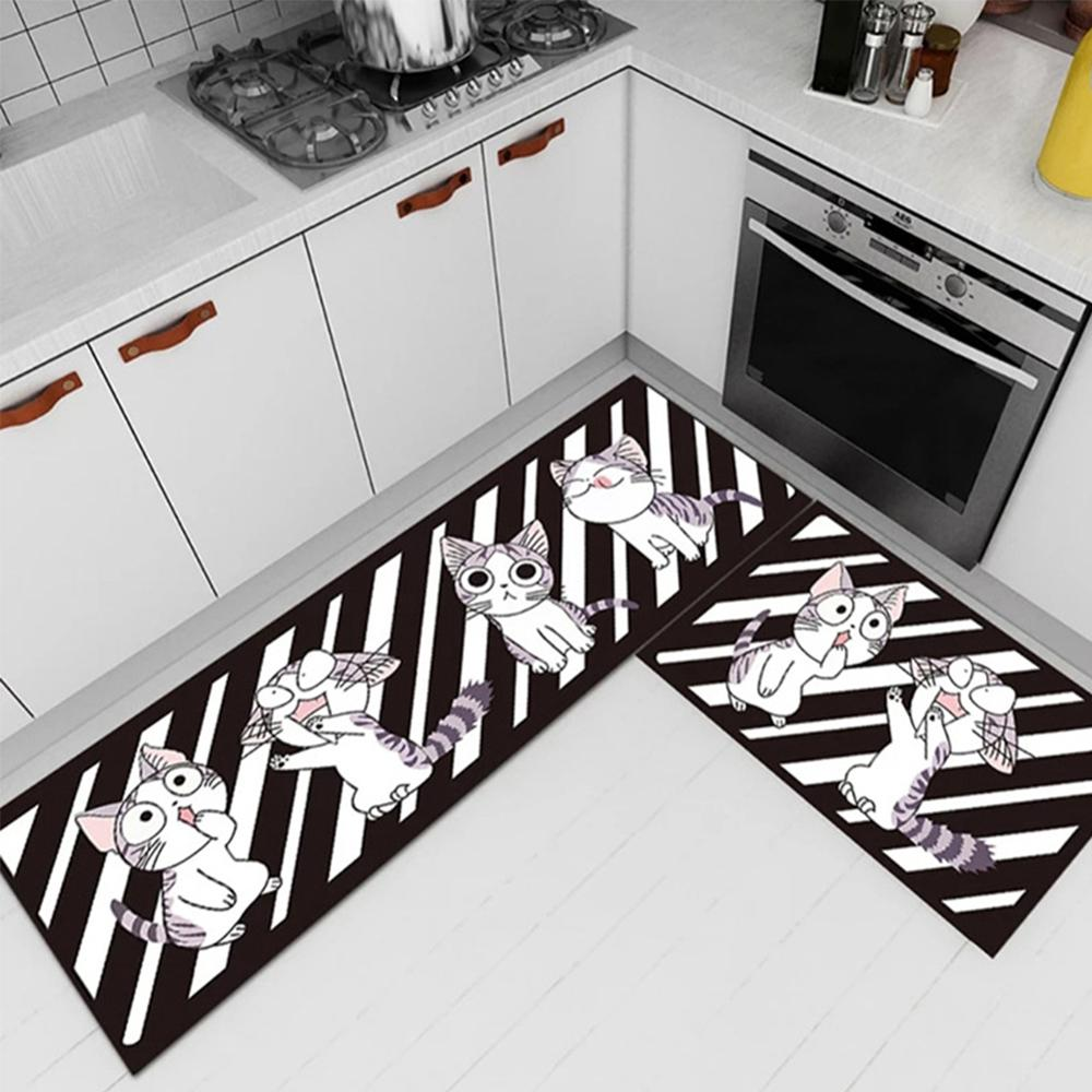 Leaves Floor Mats Animal Printed Bathroom Kitchen Carpets Doormats for Living Room Anti Slip Tapete in Mat from Home Garden