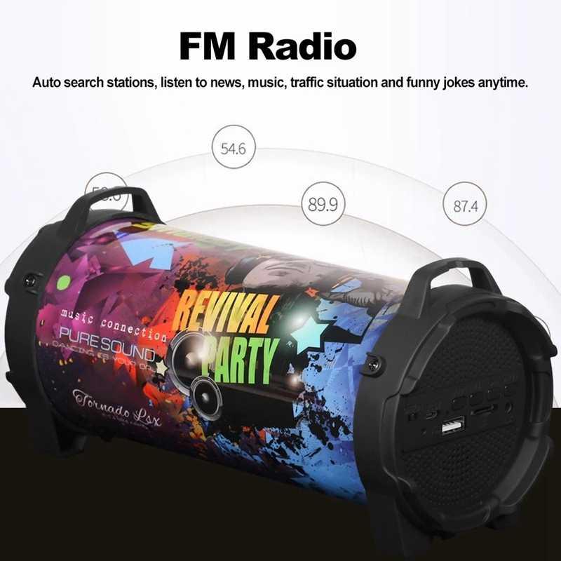 Smalody SL-10 беспроводной bt-динамик 10 Вт Выходная мощность/стерео/бас/FM радио/TF слот для карт/U привод/AUX IN/Mic/лямки/1200 мАч L