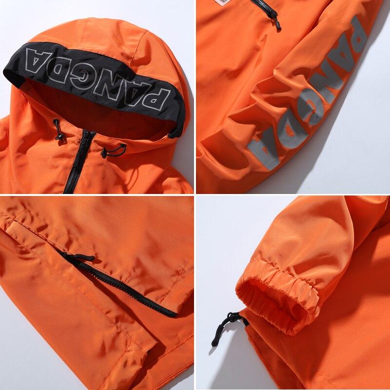 Asesmay куртка с капюшоном Для мужчин новинка в стиле пэтчворк и КолорБлок, пуловер, куртка, модный тренировочный костюм пальто Для мужчин в сти... - 5