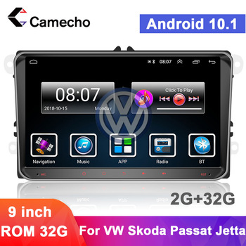 Camecho 2 Din Car Radio Multimedia Video Player GPS Car Stereo For VW Volkswagen Skoda Seat Octavia Tiguan Passat Polo Autoradio image