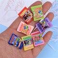7 stücke 1/12 Skala Nette Mini Spielen Spielzeug Lebensmittel Miniatur Dollhosue Harz Snack Tasche Pretend lebensmittel für Puppen Küche Spielzeug