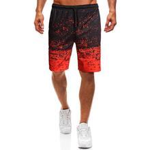 Wygodne szorty męskie druk cyfrowy gradientowe szorty na lato 2020 lato nowy Fitness sportowy bieganie męskie sportowe szorty Jogging tanie tanio CANGHPGIN CN (pochodzenie) Poliester Pasuje prawda na wymiar weź swój normalny rozmiar GY391 Drukuj Men s sports casual shorts