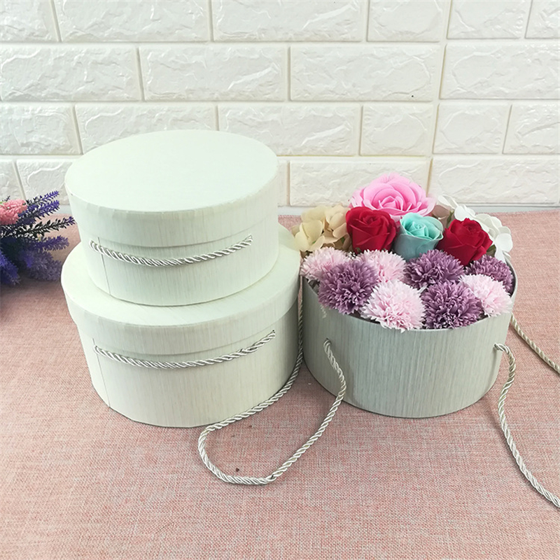 Florist Hat Boxes 3pcs Round Box Candy Gift Boxes Gift Bag Box Packaging Boxes For Gifts Christmas Flowers Gifts Living Vase
