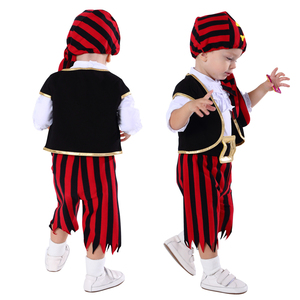Image 2 - Baby Boys Pirate Costume Romper Infant Captain Cosplay Jumpsuit Newborn Carnival Outfit New Year Playsuit For Bebe Ropa Clothes
