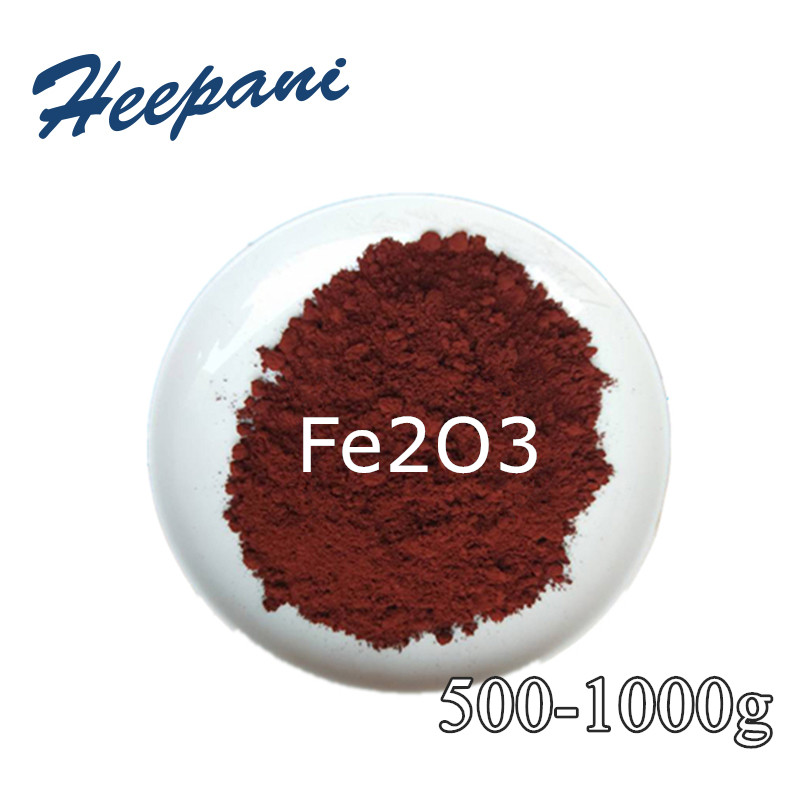 Free Shipping 500 Mesh-100nm 99% Purity Red Iron Oxide Fe2O3 Powder Ferric Oxide Pigment Material For Plastic / Ceramic